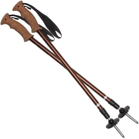 Summit Cork Adjustable Trekking Poles - Adjustable - BROWN ( )