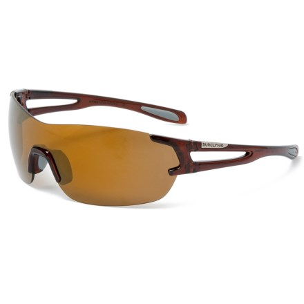 5ce64a4df6 Suncloud Airway Mirror Sunglasses - Polarized (For Men and Women) in Crystal  Brown