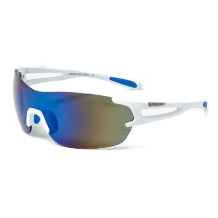 1cb2e7d30d07 Suncloud Airway Mirror Sunglasses - Polarized (For Men and Women) in  White Blue