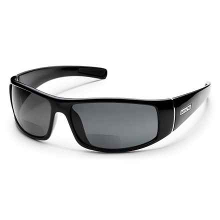 Suncloud Atlas Reader Sunglasses - Polarized in Black/Gray - Overstock