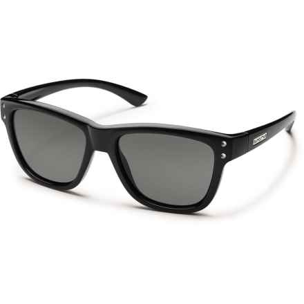 Suncloud Carob Sunglasses - Polarized (For Kids) in Black/Gray - Overstock