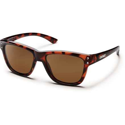 Suncloud Carob Sunglasses - Polarized (For Kids) in Tortoise/Brown - Overstock