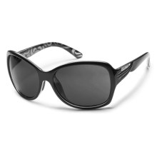 Suncloud Cassandra Sunglasses - Polarized (For Women) in Black Backpaint/Gray - Closeouts