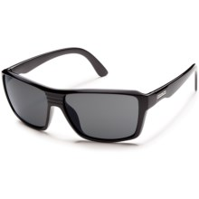 Suncloud Colfax Sunglasses - Polarized in Black/Grey - Closeouts