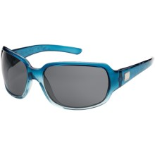 Suncloud Cookie Sunglasses - Polarized Lenses in Sea Blue Laser/Grey - Closeouts