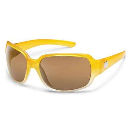 Suncloud Cookie Sunglasses - Polarized Lenses in Yellow Fade/Sienna - Overstock
