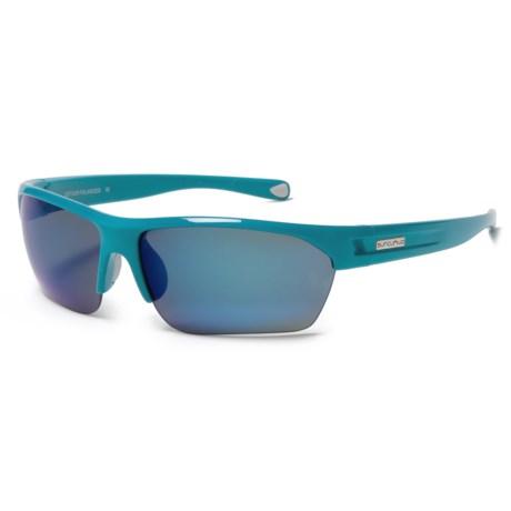 Suncloud Detour Sunglasses - Polarized in Glacier Blue/Blue Mirror