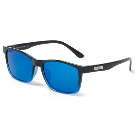 bde2902c8f Suncloud Dexter Mirror Sunglasses - Polarized (For Men and Women) in Black  Blue