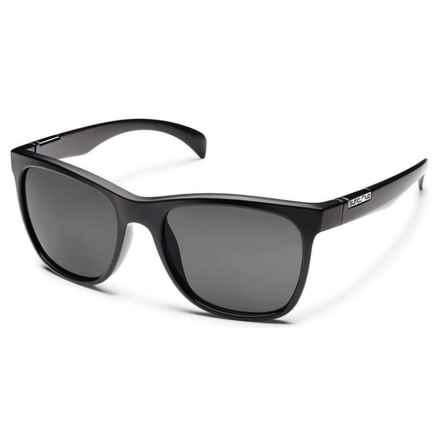 Suncloud Doubletake Sunglasses - Polarized in Black/Gray - Closeouts