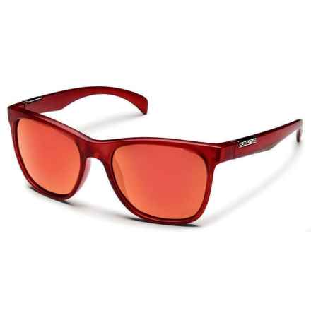 Suncloud Doubletake Sunglasses - Polarized in Matte Red/Red Mirror - Closeouts