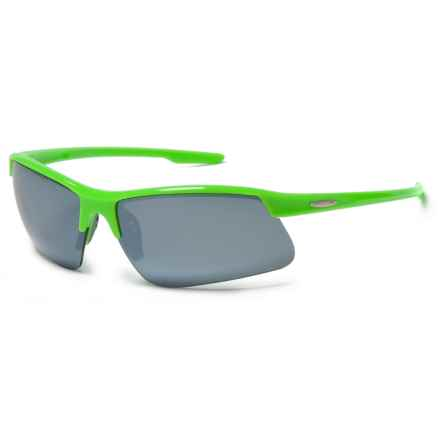 Suncloud Flyer Sunglasses - Polarized in Green/Silver Mirror - Closeouts