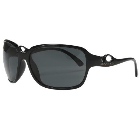 SunCloud Illusive Sunglasses - Polarized (For Women) in Black/Grey