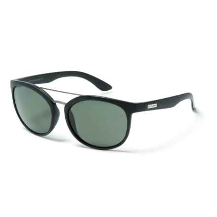 Suncloud Liberty Sunglasses - Polarized in Matte Black/Gray - Overstock