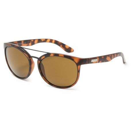 Suncloud Liberty Sunglasses - Polarized in Matte Tortoise/Brown