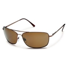 Suncloud Navigator Sunglasses - Polarized in Brown/Brown - Closeouts
