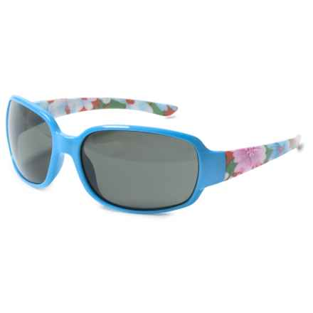 Suncloud Picnic Sunglasses - Polarized (For Kids) in Blue Flowers/Grey - Closeouts