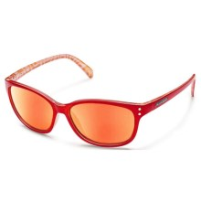Suncloud Polarized Optics Flutter Sunglasses (For Women) in Red Backpaint/Red Mirror - Closeouts