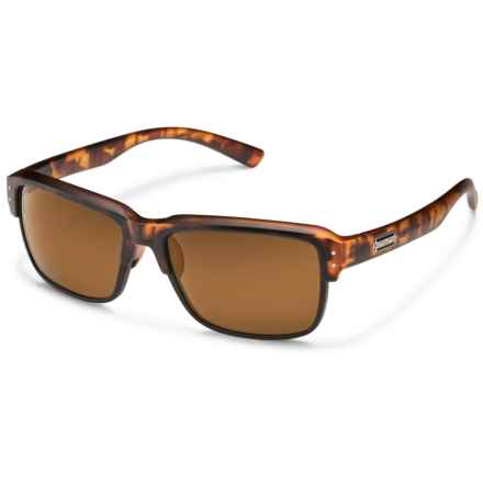 Suncloud Port O Call Sunglasses - Polarized in Matte Tortoise/Polar Brown - Overstock