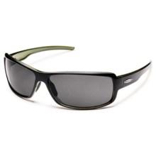 Suncloud Ricochet Sunglasses - Polarized in Black Backpaint/Gray - Closeouts
