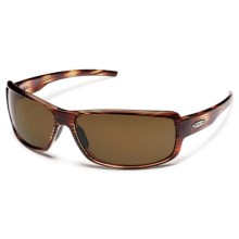 Suncloud Ricochet Sunglasses - Polarized in Brown Stripe/Brown - Closeouts