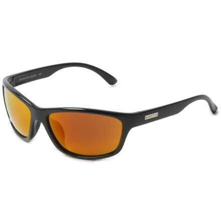 Suncloud Rowan Sunglasses - Polarized in Black/Red Mirror - Overstock