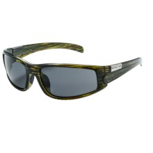 Suncloud Swagger Sunglasses - Polarized in Green Stripe/Gray - Closeouts
