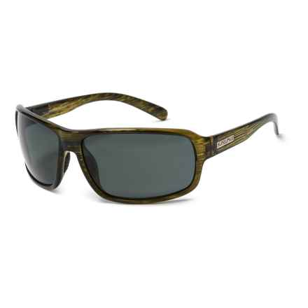 Suncloud Tailgate Sunglasses - Polarized in Green Stripe/Polar Gray - Closeouts