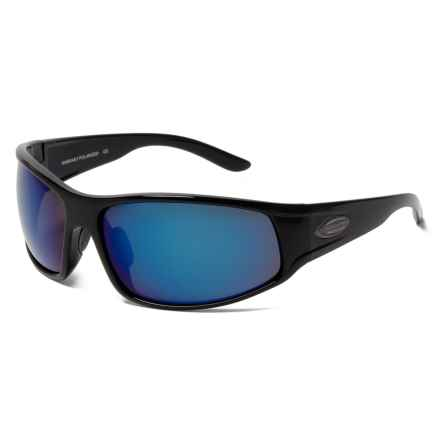 Suncloud Warrant Sunglasses - Polarized Mirror Lenses in Black/Polar Blue Mirror - Closeouts