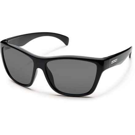 Suncloud Wasabi Sunglasses - Polarized (For Kids) in Black/Grey - Overstock