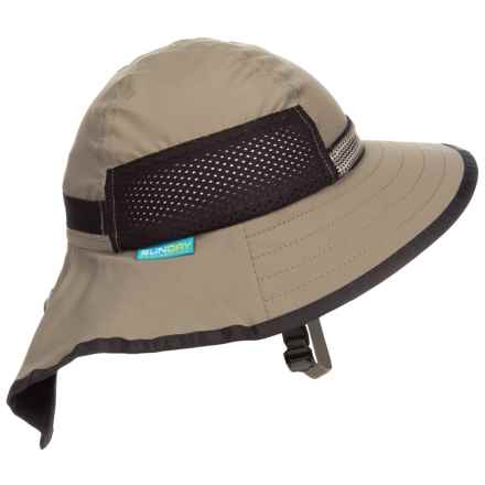 Sunday Afternoons Adventure Hat - UPF 50+ (For Little and Big Kids) in Sand/Black - Closeouts