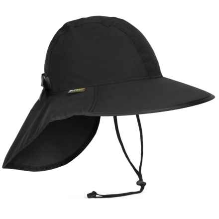 Sunday Afternoons Cloudburst Sun Hat - UPF 50+ (For Men and Women) in Black/Black - Closeouts