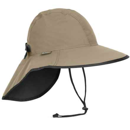Sunday Afternoons Cloudburst Sun Hat - UPF 50+ (For Men and Women) in Sand/Black - Closeouts