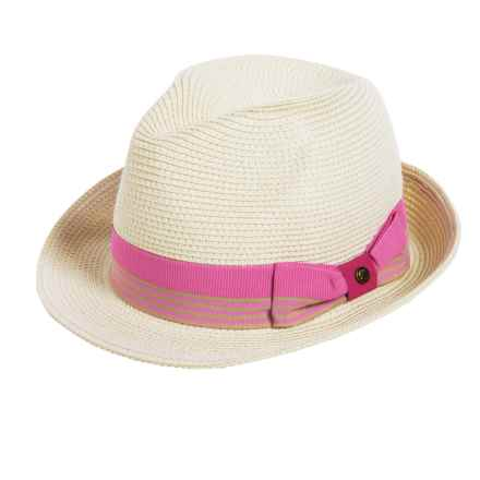 Sunday Afternoons Gecko Fedora Hat - UPF 50+ (For Little and Big Kids) in Cream - Closeouts