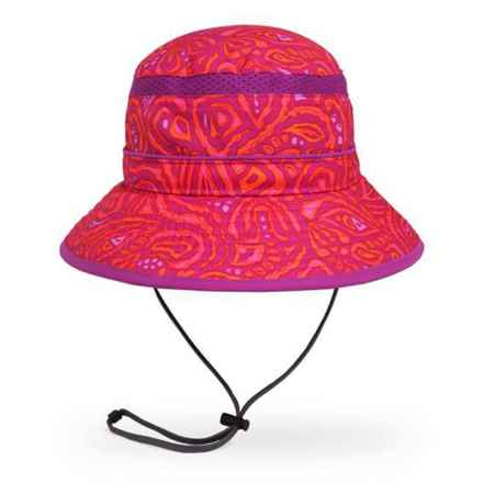 Sunday Afternoons Pink Fossil Fun Bucket Hat - UPF 50+ (For Girls) in Pink Fossil - Closeouts