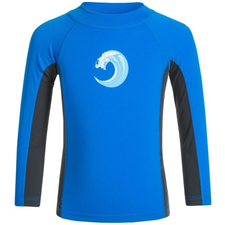Sunday Afternoons Wave Rider Swim Shirt - UPF 50+, Long Sleeve (For Little and Big Boys) in Surf Blue