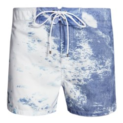 Sundek Ocean Vita Boardshorts - Built-In Brief (For Men) in Blue/White