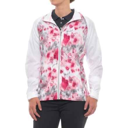 Sunice Belmont Windwear Jacket - Short Sleeve (For Women) in Blossom Serenity Print - Closeouts