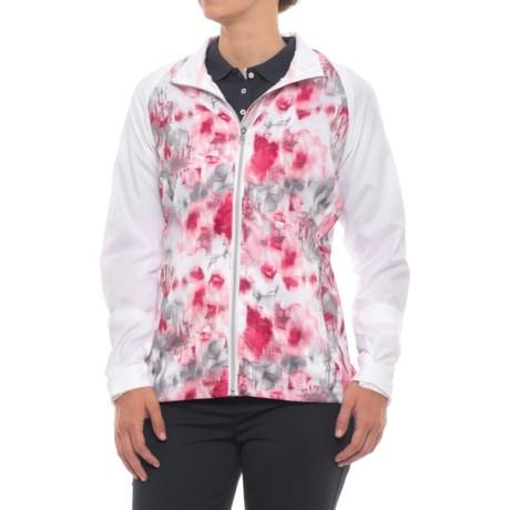 Sunice Belmont Windwear Jacket - Short Sleeve (For Women) in Blossom Serenity Print