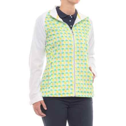 Sunice Belmont Windwear Jacket - Short Sleeve (For Women) in Spearmint Green/Mellow Yellow - Closeouts