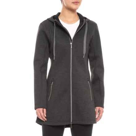 Sunice Dana Tecnospacer 3/4-Length Coat (For Women) in Dark Charcoal Melange