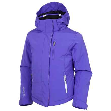 Sunice Jr. Naquita Technical Ski Jacket - Waterproof, Insulated (For Big Girls) in Grape/White - Closeouts