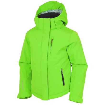 Sunice Jr. Naquita Technical Ski Jacket - Waterproof, Insulated (For Big Girls) in Green/Light Bright Print - Closeouts
