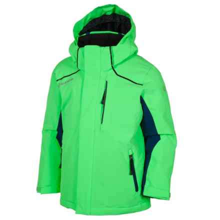Sunice Jr. Volt Technical Ski Jacket - Waterproof, Insulated (For Big Boys) in Flash Green/Midnight - Closeouts