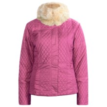 Sunice Julia Quilted Jacket - Faux-Fur Trim (For Women) in Bubble Gum - Closeouts