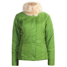Sunice Julia Quilted Jacket - Faux-Fur Trim (For Women) in Cactus - Closeouts