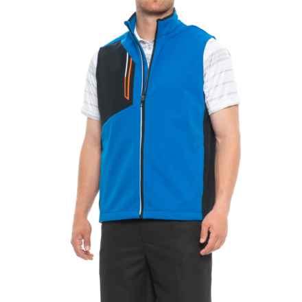 Sunice Julius Soft Shell Vest (For Men) in Collegiate/Black - Closeouts