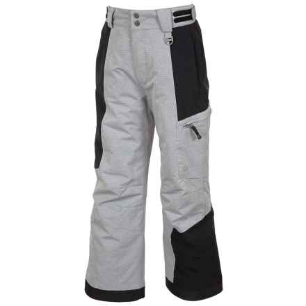 Sunice Laser Tech Ski Pants - Waterproof, Insulated (For Big Boys) in Grey Texture - Closeouts