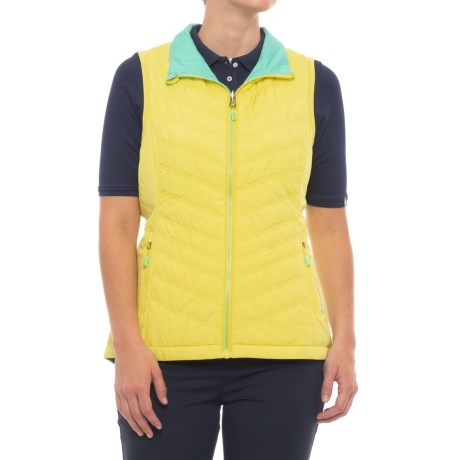 Sunice Maci Thermal Vest - Reversible, Insulated (For Women) in Mellow Yellow/Spearmint Green