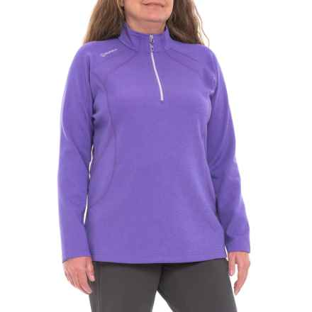 Sunice Megan SuperliteFX Stretch Shirt - Zip Neck, Long Sleeve (For Women) in Lavender Melange/Iris - Closeouts