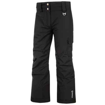 Sunice Zoe Tech Ski Pants - Waterproof, Insulated (For Big Girls) in Black - Closeouts